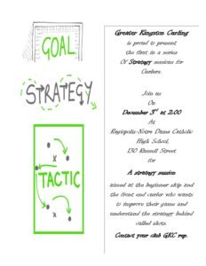 Greater Kingston Curling Strategy Session @ Regiopolis Notre Dame High School | Kingston | Ontario | Canada