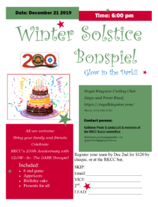 Winter Solstice Birthday Party Bonspiel