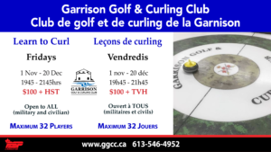 Learn to Curl Program - Garrison Curling Club @ Garrison Curling Club